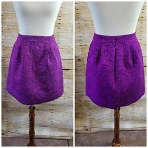 Anthropologie HD in Paris Purple Pink Mini Skirt
